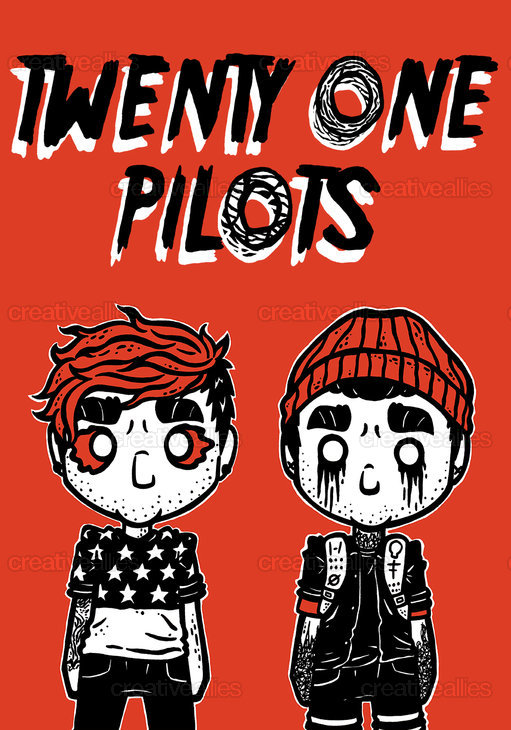 TWENTY ONE PILOTS Poster by Holztoons on CreativeAllies.com