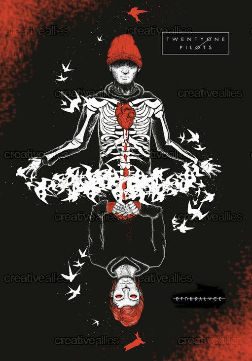 TWENTY ONE PILOTS Poster by MetallicJasmine on CreativeAllies.com