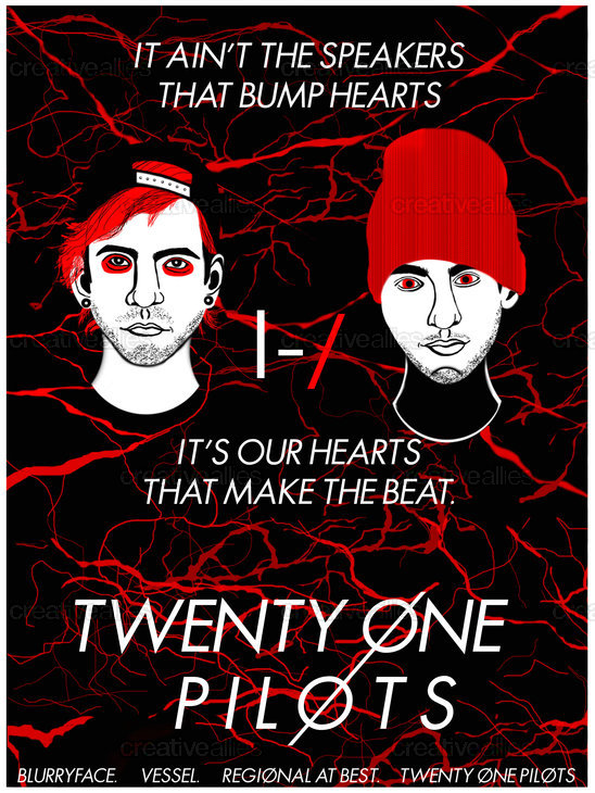 TWENTY ONE PILOTS Poster by BethT134 on CreativeAllies.com