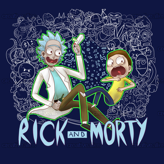 Rick and Morty Graphic by sjham on CreativeAllies.com