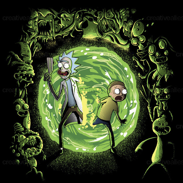 Rick and Morty Graphic by fourscore on CreativeAllies.com
