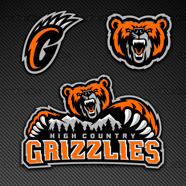 High Country Grizzlies Logo by REDPIN on CreativeAllies.com