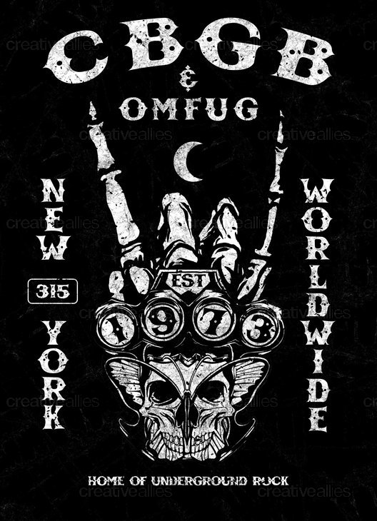 CBGB's Poster by Nanang Saputro on CreativeAllies.com