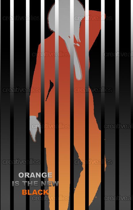 Orange is the New Black Poster by Eleni Nikolaou on CreativeAllies.com