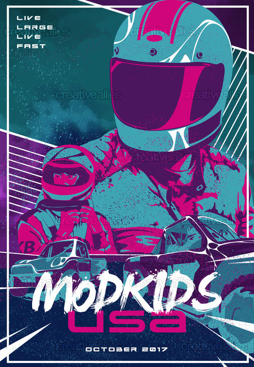 Mod Kids USA Poster by amiel angeles on CreativeAllies.com