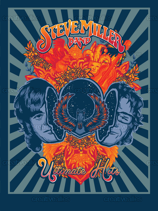 Steve Miller Band Poster by Carly Wright on CreativeAllies.com