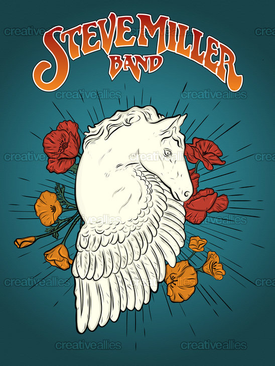 Steve Miller Band Poster by Marie Brink on CreativeAllies.com