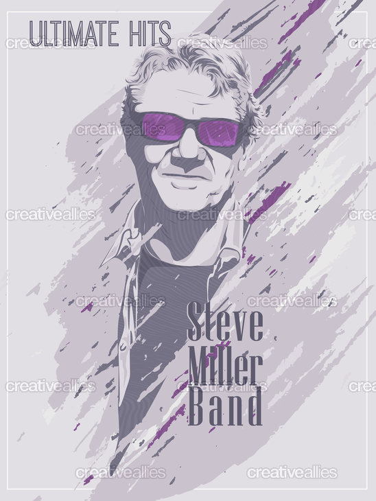 Steve Miller Band Poster by Amiel Angeles on CreativeAllies.com