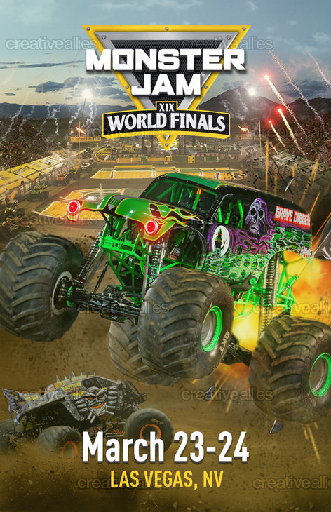 Monster Jam® Poster by DGraphics on CreativeAllies.com