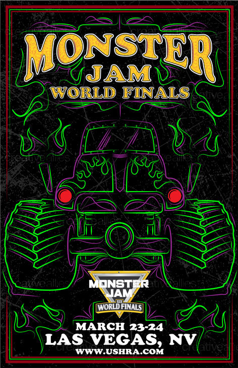 Monster Jam® Poster by Bigs21 on CreativeAllies.com