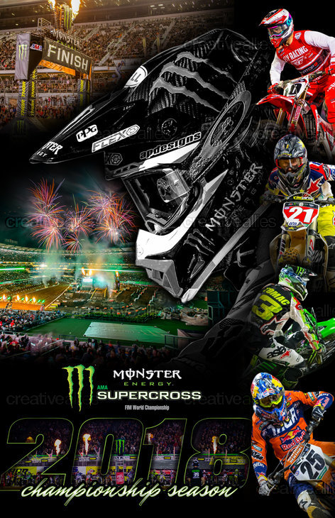 Monster Energy Supercross Poster by motoxmally on CreativeAllies.com