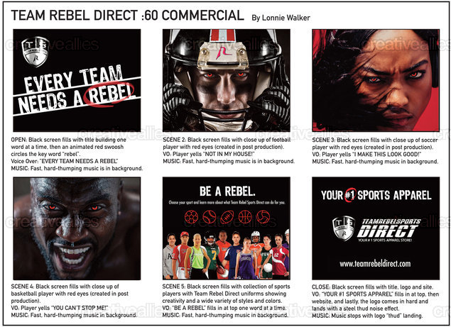 Team Rebel Direct Specialty by Lonnie Walker on CreativeAllies.com