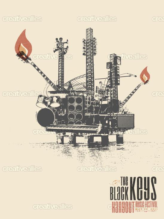 Black_keys_oil_rig_poster_tim_winter