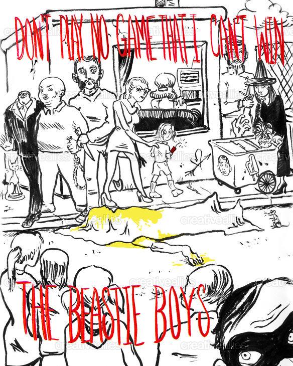 Beastie Boys Poster by MissMeat on CreativeAllies.com