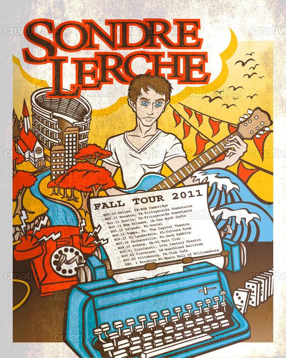 Sondre Lerche Poster by =MARV= on CreativeAllies.com