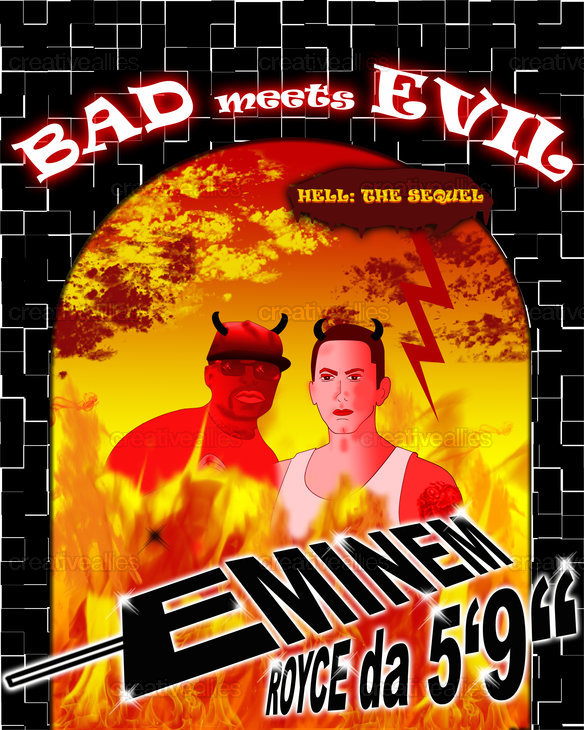 Bad Meets Evil Poster by esafbabe