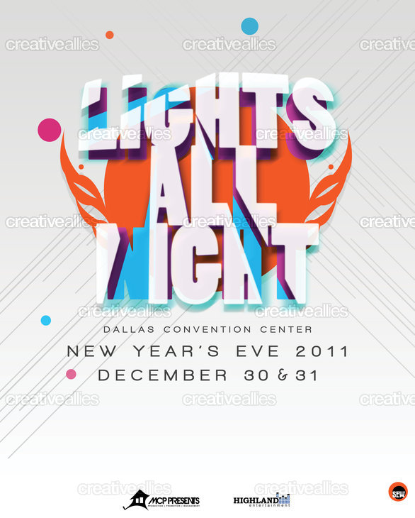 Lights All Night Poster by sewCLVR on CreativeAllies.com