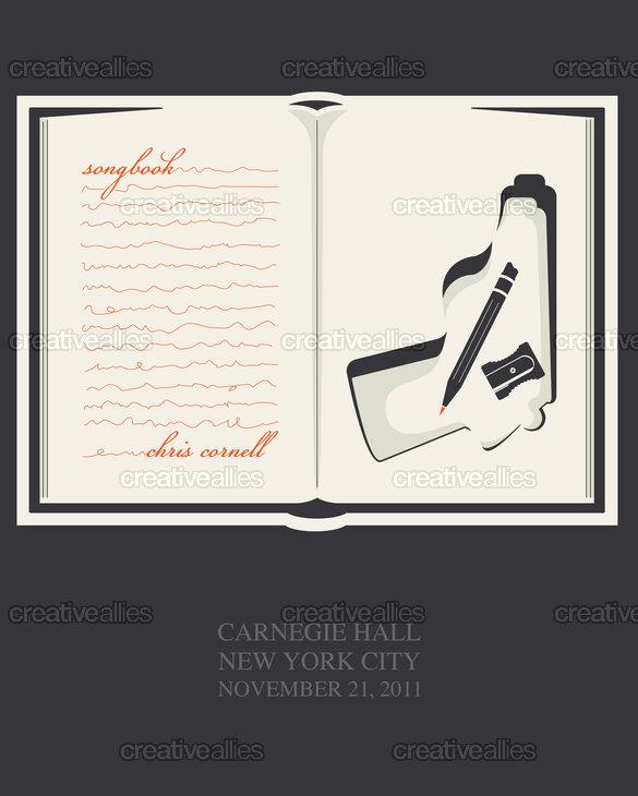Chriscornellsongbookposter
