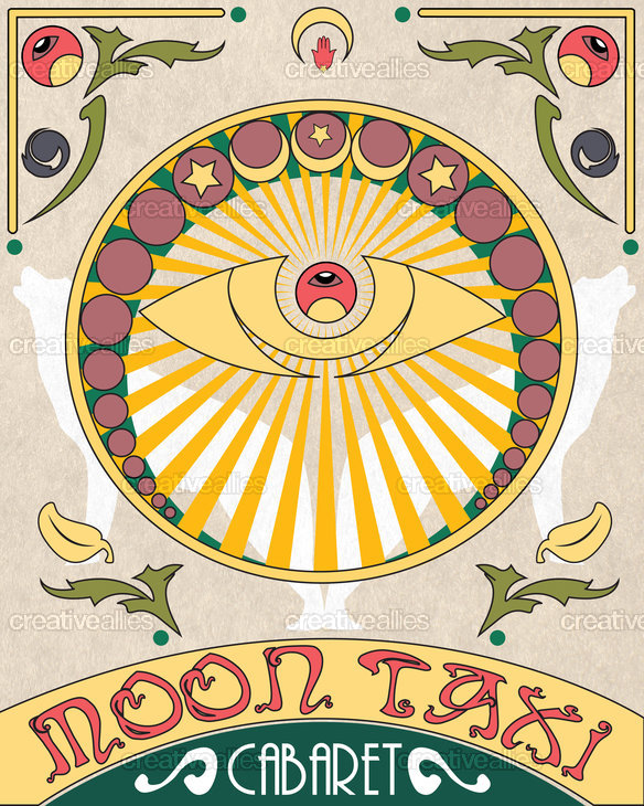 Moon Taxi Poster by alextraboulsi on CreativeAllies.com
