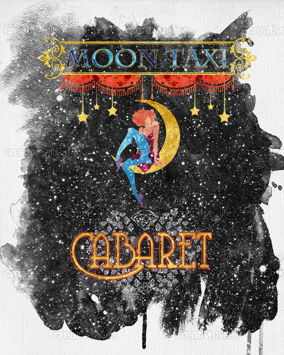 Moon Taxi Poster by Stelios Cfd