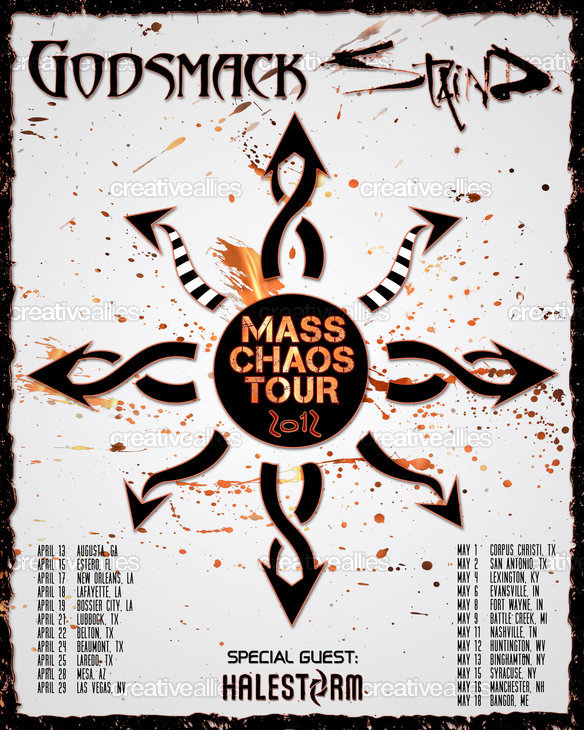 Godsmack | Staind | Halestorm Poster by MistyA on CreativeAllies.com