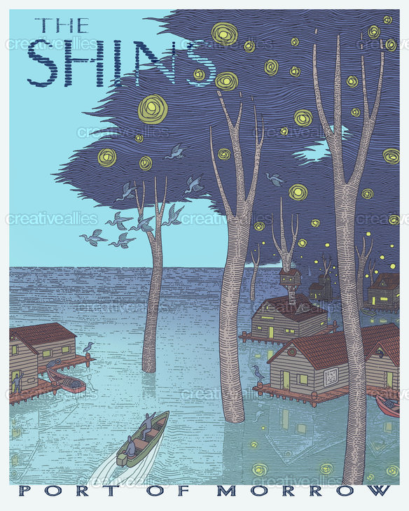 The Shins Poster by imaginarypeople on CreativeAllies.com