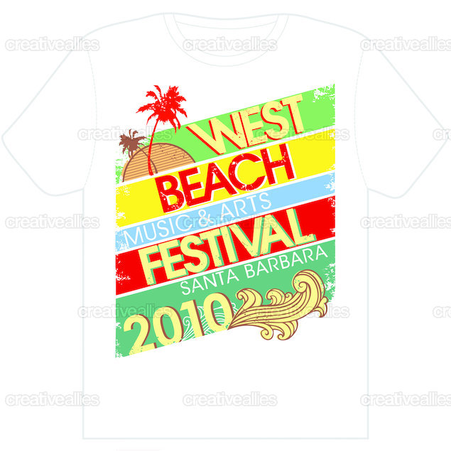 West beach music and arts festival t shirt by yvk design for T shirt design festival