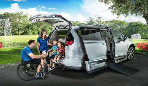 Family With Chrysler Side Entry Wheelchair Van