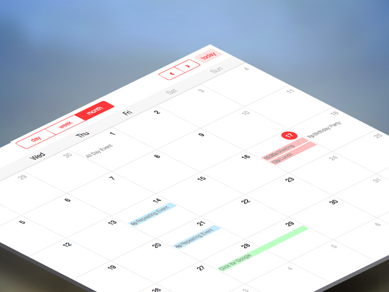 Full Calendar Image