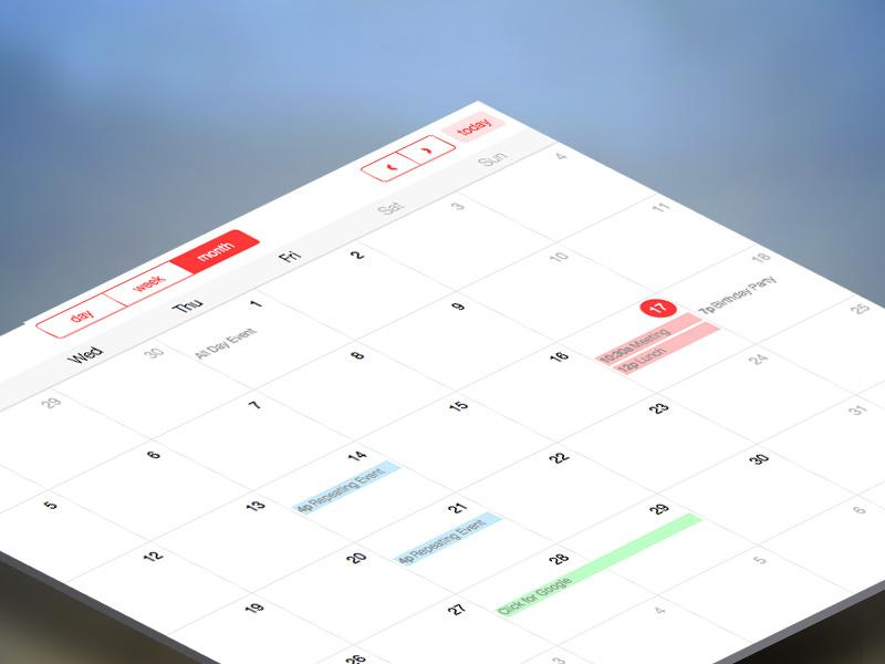 Full Calendar: Free Bootstrap Calendar @ Creative Tim