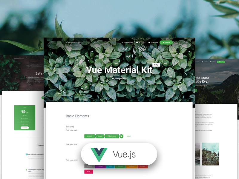 Vue Material Kit PRO Image