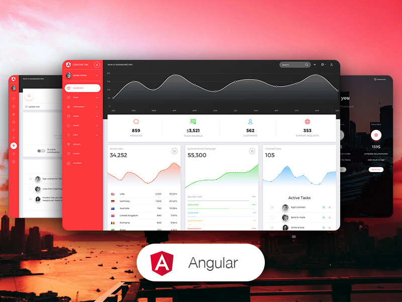 Now UI Dashboard PRO Angular Image