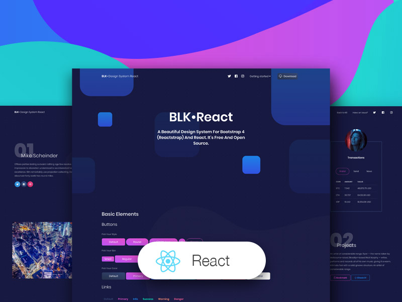 BLK Design System React by Creative Tim