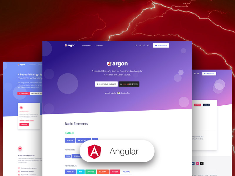 Argon Design System Angular Image