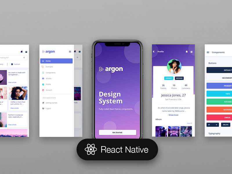 Argon React Native: Free React Native App Template