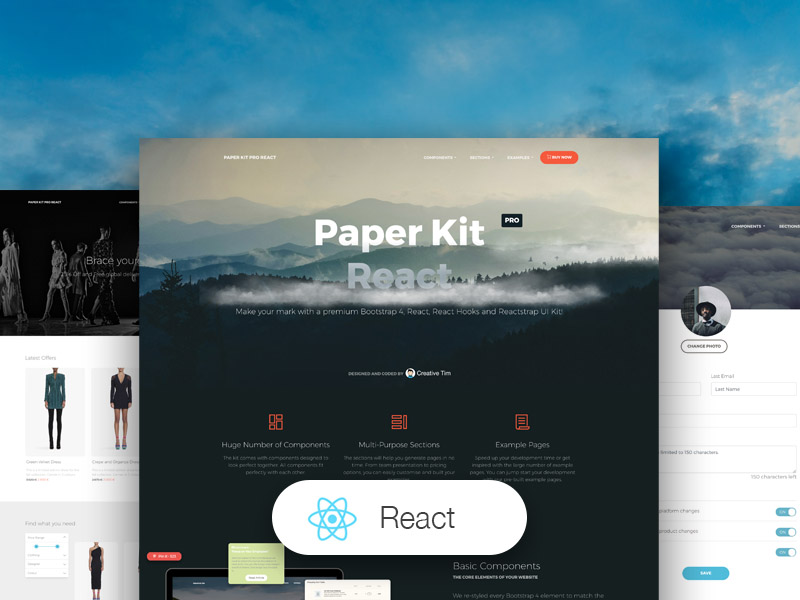 Paper Kit PRO React by Creative Tim