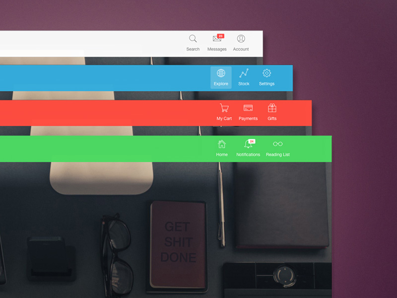 Navbar With Icons Image