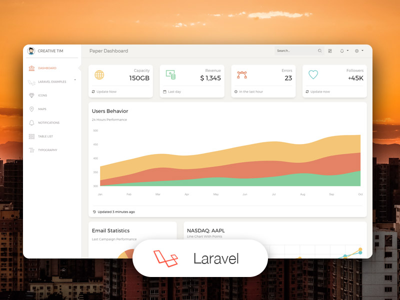 Paper Dashboard Laravel Image