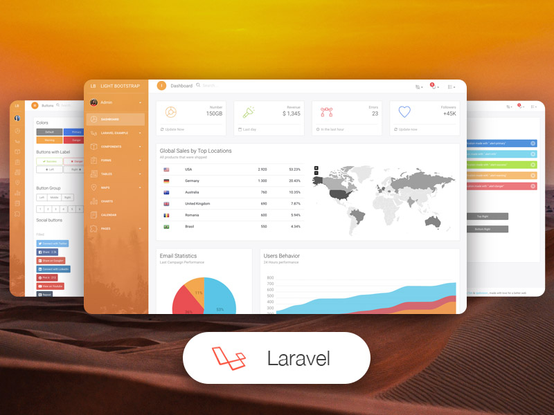Light Bootstrap Dashboard PRO Laravel Image