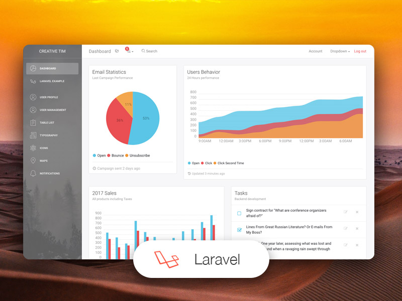 Light Bootstrap Dashboard Laravel Image