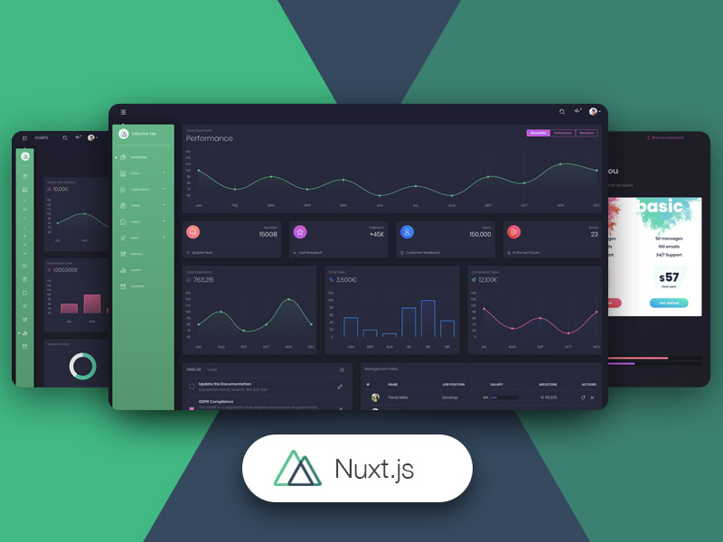 Nuxt Black Dashboard PRO by Creative Tim