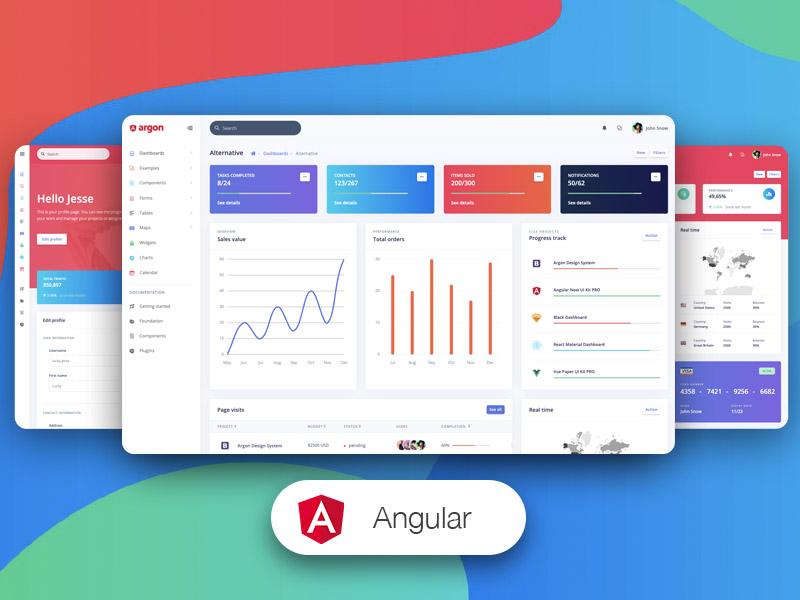 Argon Dashboard PRO Angular Image