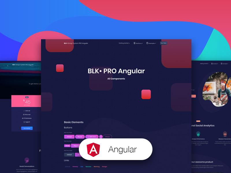 BLK• Design System PRO Angular Image