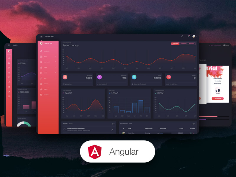 Black Dashboard PRO Angular Image