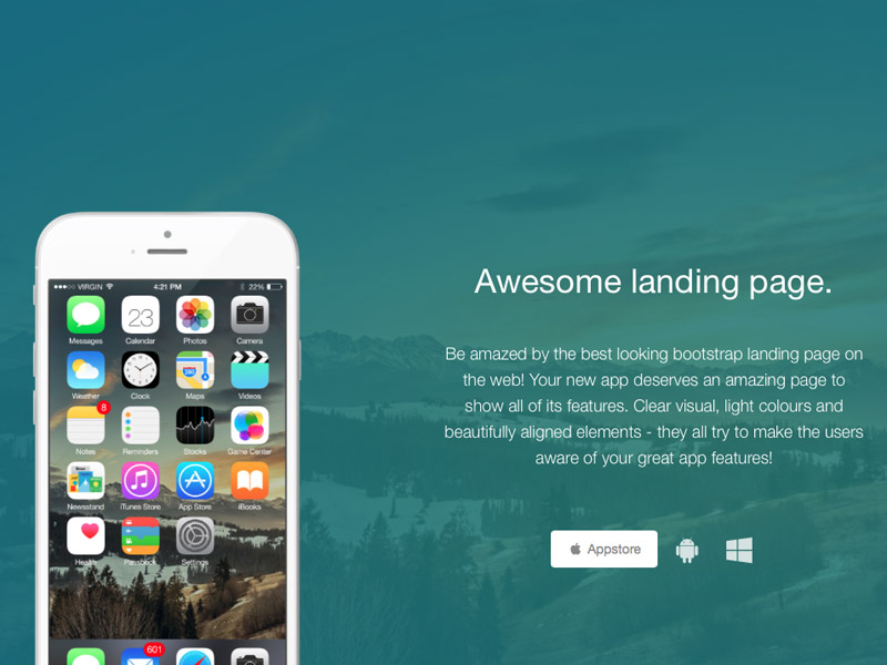 Awesome Landing Page Free Bootstrap Landing Page Creative Tim - Bootstrap landing page template