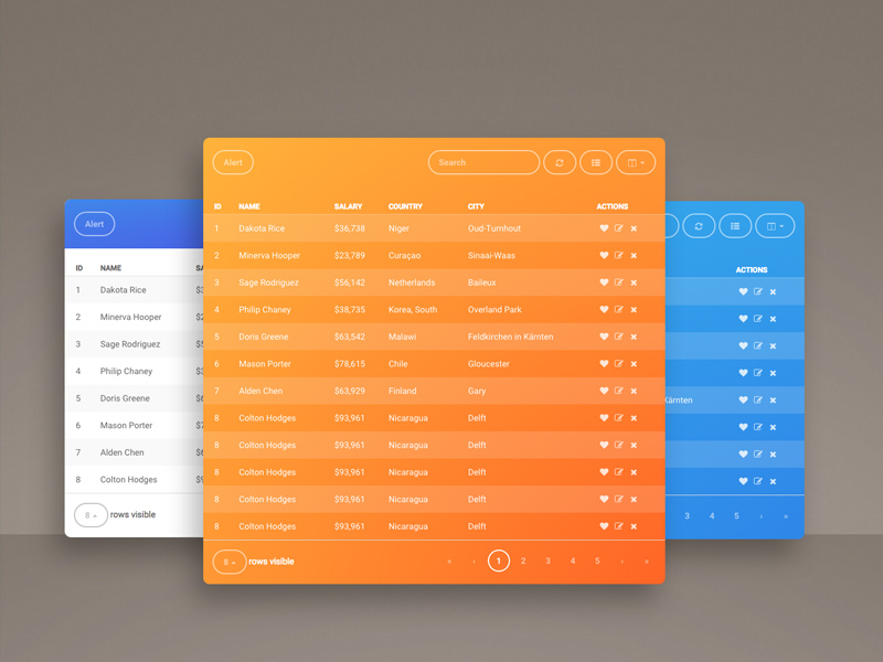 Navbar Design: Fresh Bootstrap Table By Creative Tim