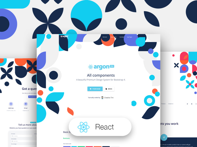 Argon Design System PRO React Image