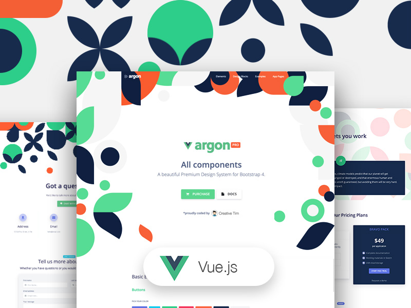 Vue Argon Design System PRO Image