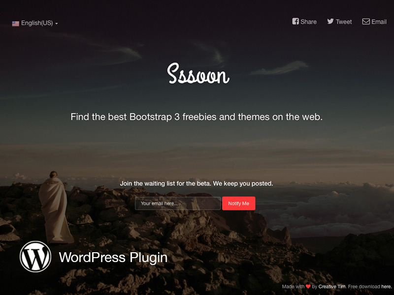 Coming Sssoon Page WordPress Version Image