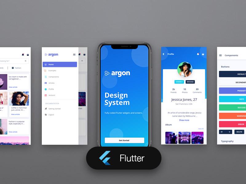 Argon Flutter Image